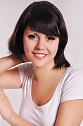 girl Alenka, years old with  eyes and  hair.