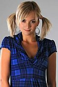 Ukrainian girl Daria,26 years old with grey eyes and blonde hair.