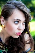 Ukrainian girl Ekaterina,20 years old with grey eyes and dark brown hair.