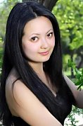 Ukrainian girl Yana,22 years old with brown eyes and black hair.