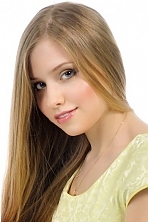 Ukrainian girl Alina,24 years old with blue eyes and light brown hair.