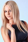 Ukrainian girl Marina,22 years old with grey eyes and blonde hair.