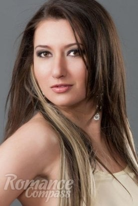 Ukrainian girl Anna,30 years old with hazel eyes and dark brown hair.