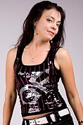 Ukrainian girl Alla,44 years old with green eyes and black hair.
