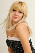 Ukrainian girl Lera,20 years old with grey eyes and blonde hair.