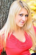 Ukrainian girl Anastasia,22 years old with blue eyes and blonde hair.