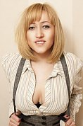 Ukrainian girl Anastasiya,21 years old with green eyes and blonde hair.