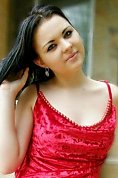 Ukrainian girl Alina,23 years old with blue eyes and black hair.