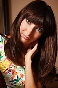 Ukrainian girl Irina,27 years old with blue eyes and dark brown hair.