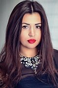 Ukrainian girl Darya,28 years old with brown eyes and black hair.