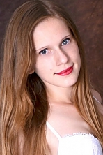 Ukrainian girl Svetlana,19 years old with grey eyes and light brown hair.
