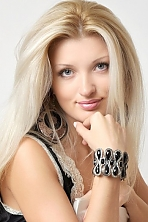 Ukrainian girl Rozanna,25 years old with blue eyes and blonde hair.