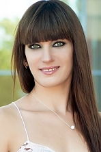 Ukrainian girl Victoria,32 years old with green eyes and dark brown hair.