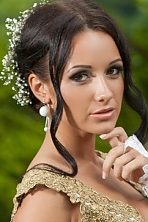 Ukrainian girl Maryna,19 years old with brown eyes and dark brown hair.