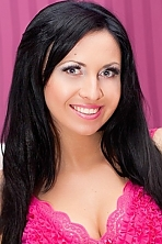 Ukrainian girl Inna,26 years old with green eyes and black hair.