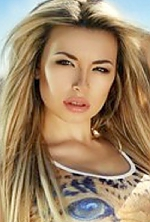 Ukrainian girl Marina,19 years old with brown eyes and blonde hair.
