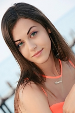 Ukrainian girl Anastasia,19 years old with green eyes and light brown hair.