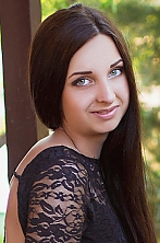 Ukrainian girl Vladislava,19 years old with grey eyes and black hair.