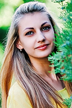 girl Olga, years old with  eyes and  hair.