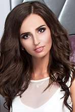 Ukrainian girl Anna,24 years old with hazel eyes and dark brown hair.