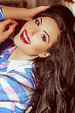 Ukrainian girl Elena,26 years old with hazel eyes and black hair.