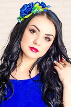 Ukrainian girl Tatiana,22 years old with brown eyes and black hair.
