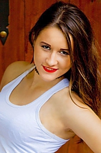 Ukrainian girl Karina,25 years old with brown eyes and dark brown hair.