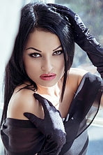 Russian girl Kristina,25 years old with black eyes and black hair.
