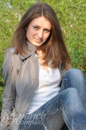 Ukrainian girl Viktoriya,24 years old with grey eyes and dark brown hair.