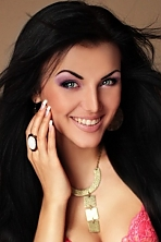 Ukrainian girl Anastasia,26 years old with blue eyes and black hair.