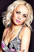 Ukrainian girl Anastasia,24 years old with green eyes and blonde hair.