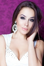 Ukrainian girl Ivanna,25 years old with brown eyes and dark brown hair.